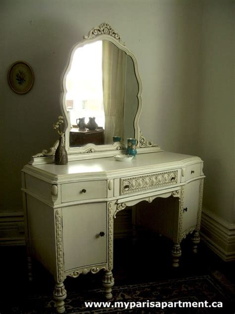shabby chic bedroom vanity hand painted distressed shabby chic vintage vanities by my paris apartment bedroom makeup