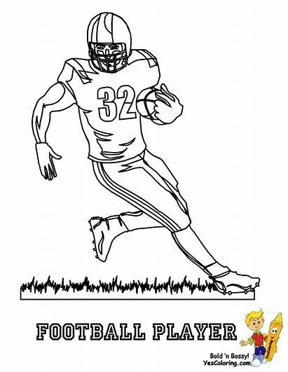 Football Coloring Pages Player Nfl American Helmet