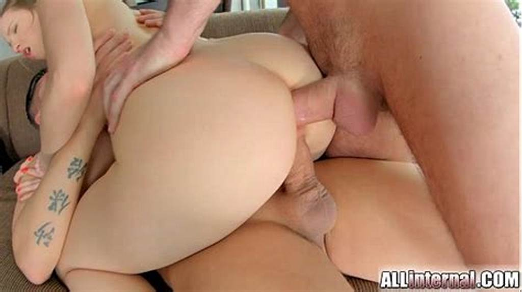 #Allinternal #Both #Holes #Get #Filled #With #White #Cum