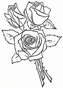 Ausmalbilder Zum Drucken Malvorlage Rose Kostenlos 3