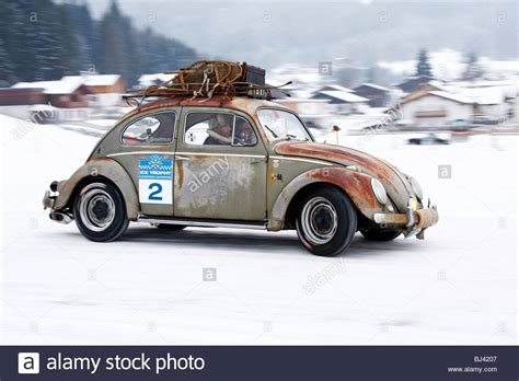 volkswagen winter rusty vw beetle built in 1958 classic cars winter race