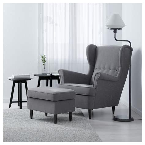 strandmon wing chair nordvalla dark grey ikea