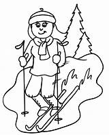 Skiing Coloring Pages Downhill Ski Clipart Colouring Cliparts Skier Printable Sheets Popular Sheet Skiers Clip Most Print Easy Books Azcoloring sketch template