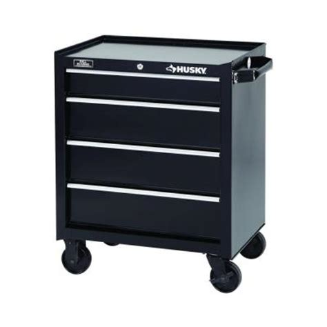 husky 26 in 4 drawer tool cabinet black 2633bkca4thd