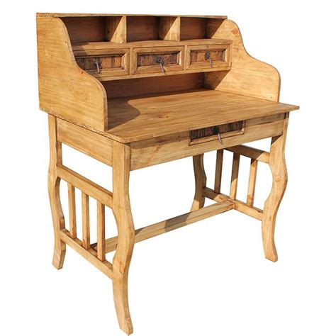 Pine Desk Hutch Rustic Furniture Lira Mexican Rustic Pine Desk With Hutch