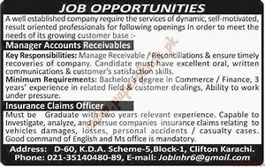 manager accounts and insurance claims officers jobs dawn With insurance claims careers
