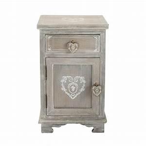 Maison Du Monde Petit Meuble : table de chevet avec tiroir en bois de paulownia gris e l ~ Dailycaller-alerts.com Idées de Décoration