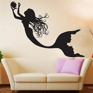 Mermaid wall decal art decor nursery sticker mermaid wall art for Mermaid wall decals
