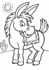 Coloring Donkey Pages Printable sketch template
