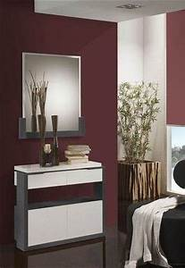 meuble d39entree moderne avec meuble a chaussures miroir With meuble pour hall d entree 0 meuble dentree vestiaire pin blanc trendymobilier