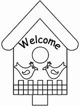 Pages Spring Coloring Birdhouse Colouring Bird Printable Welcome Coloringpagebook Activities Advertisement Popular Printing Instructions sketch template
