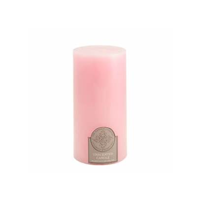 Pink Candle Pillar Inch Candles 3x6