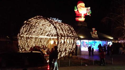 walk through christmas light tunnel on dovewood ct youtube