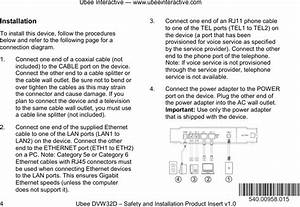 Ubee Interactive Dvw32d Cable Modem User Manual