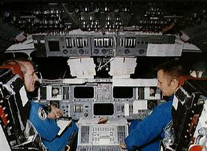 Shuttle simulation in preparation for STS-5