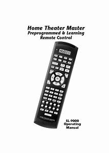 Home Theater Master Sl-9000 Manuals