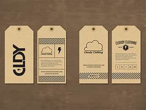 cloudy clothing hang tag by jordan mahaffey dribbble With how to make hang tags for clothing