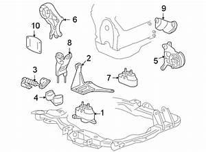 Pontiac G6 Engine Mount Bracket  3 9 Liter  Manual