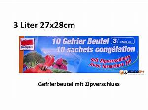 Gefrierbeutel Mit Zipper : 100 x gefrierbeutel 3 liter 27x28cm druckverschluss beutel zip verschluss ~ Orissabook.com Haus und Dekorationen