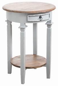 Table D Appoint Blanche : table d 39 appoint ronde en bois gris ~ Teatrodelosmanantiales.com Idées de Décoration