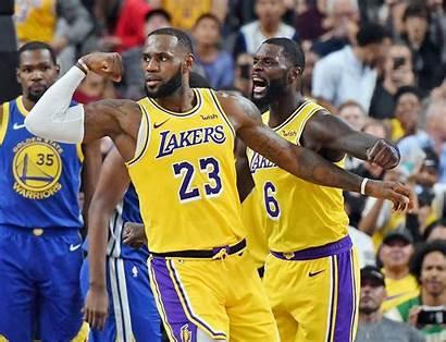 Lebron Lakers James Warriors Against