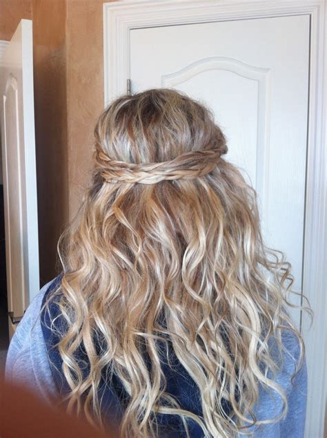 prom hair half up half down with braids and extensions