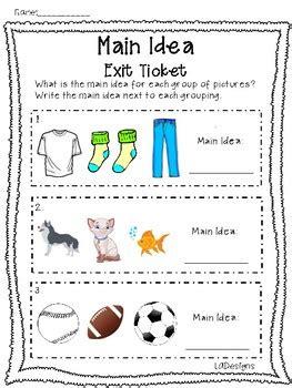 main idea exit ticket freebie  la designs teachers pay