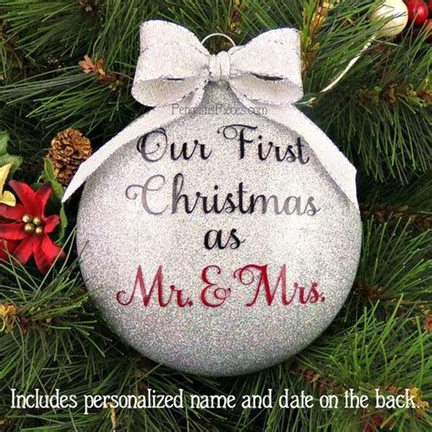 christmas ornament for newlyweds personalized our first