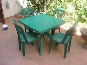 Table De Jardin En Plastique : table de jardin verte en plastique ~ Dode.kayakingforconservation.com Idées de Décoration