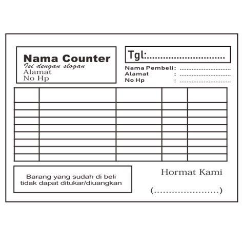 contoh desain nota penjualan handphone lengkap tips mendesain