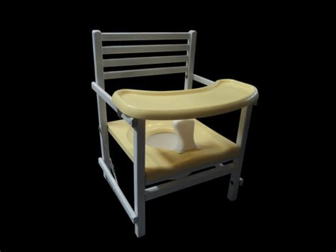 wooden potty chair with tray old fashioned but by