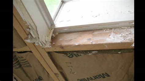 How To Frame A Window Sill by Water Stains On The Window Sill Framing From Leaking