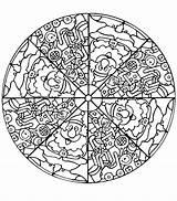 Mandala Coloring Complex Printable Getcolorings sketch template