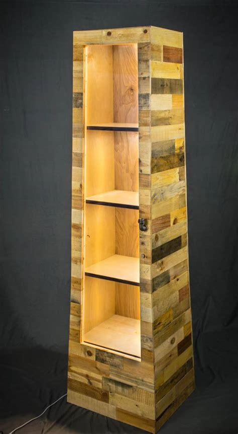 pallet shelf tower bookcase