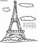 Eiffel Tower Paris Coloring Pages France Easy Printable Cn Drawing Colorings Print Getcolorings Fancy Getdrawings Eiff sketch template