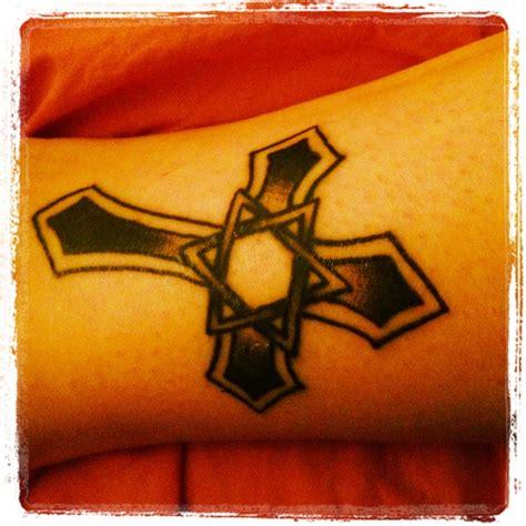watercolor tattoo cross  star  david tattoo