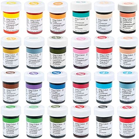 icing colors wilton master 24 icing color 1 ounce set buy in
