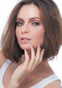 Coupe Cheveux Carré Mi Long : cheveux mi long brun coupe au carr coiffure mi long brun coupe au carr marie claire ~ Melissatoandfro.com Idées de Décoration