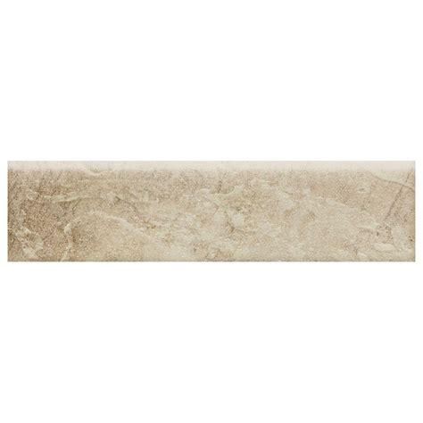 slate bullnose trim tile daltile continental slate egyptian beige 3 in x 12 in porcelain bullnose floor and wall tile