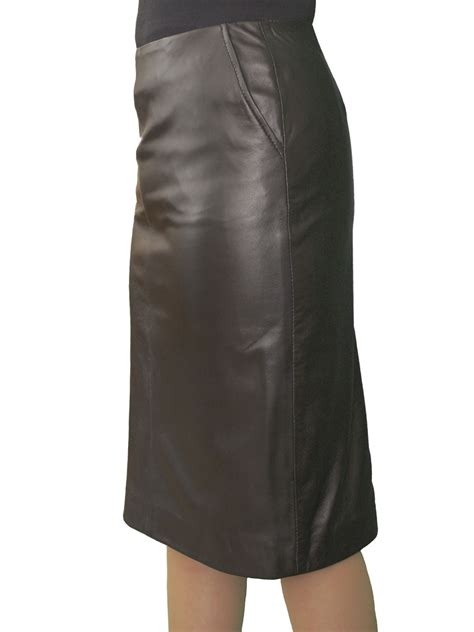 Leather Pencil Skirt luxury soft knee length - Tout Ensemble