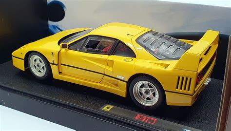 The red scuderia is detailed with yellow stripes and ferrari logos on the sides and top. HOT Wheels Elite 1/18 Scale j2925-0510 - Ferrari f40-gelb | eBay