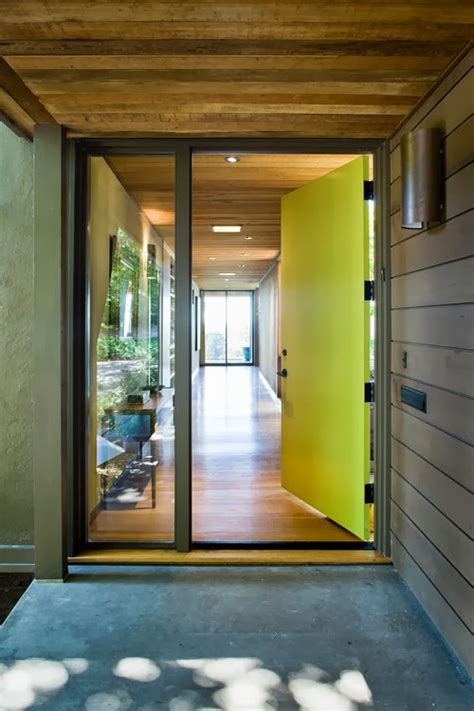 mad  mid century green modern front doors
