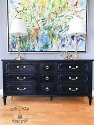 Black Painted Dresser Ideas