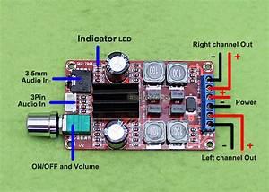 2x50w Stereo Audio Amplifier Board  Tpa3116d2