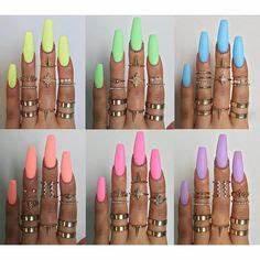 Summer Neon Nails Mani Pedi Pinterest