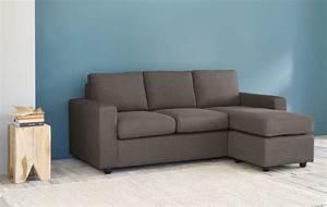 Canapé D Angle Modulable : canap d 39 angle modulable 3 places gris anthracite jules ~ Melissatoandfro.com Idées de Décoration