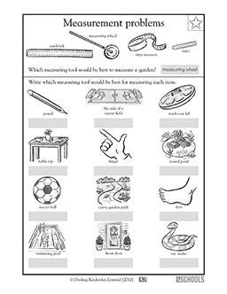 grade math worksheets measurement tools greatschools