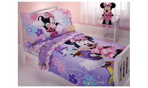 Disney Minnie Mouse 4 Pc Toddler Bedding Set