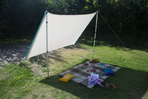 diy backyard shade diy shade sail simple practical and recommended