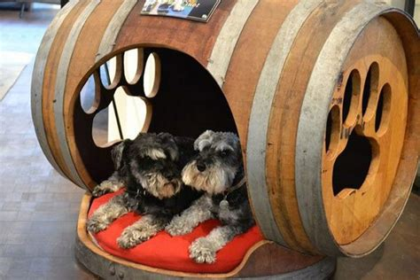 beds  dogs   recycled wooden barrels upcycle art